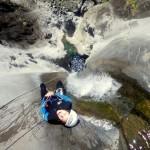 Canyoning sur l'île de la Réunion dans le canyon de Fleur Jaune, avec Grande Ravine